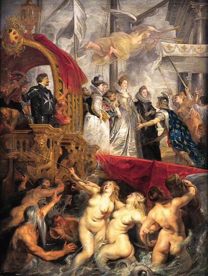 Rubens-lArrivee-de-Marie-de-Medicis-paris-louvre